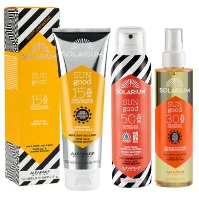 Solarium Crema Spf15 + Aceite Spf30 + Spray Spf50 Protección Para La Cara Y El Cuerpo
